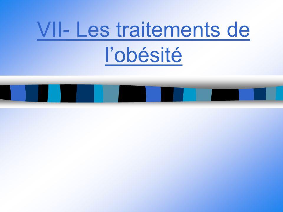 VII- Les traitements de lobésité