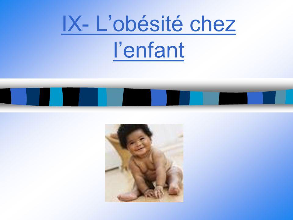 IX- Lobésité chez lenfant