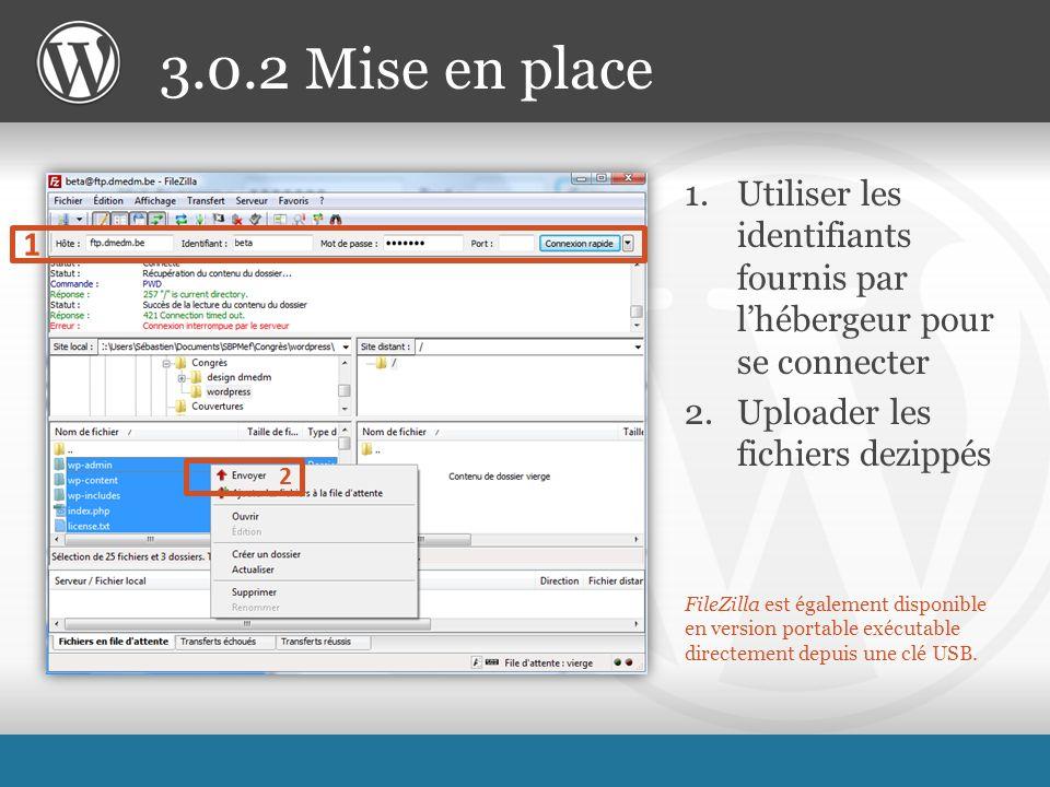 FileZilla est également disponible en version portable exécutable directement depuis une clé USB.