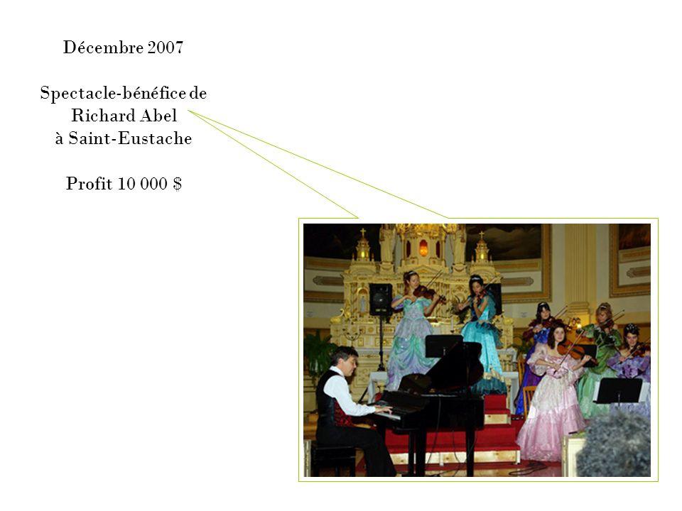 Mai 2008 Concert-bénéfice Harpen fête à Ahuntsic Profit 7 000 $