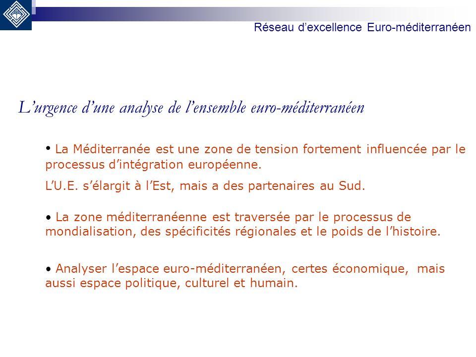 Lurgence dune analyse de lensemble euro-méditerranéen La Méditerranée est une zone de tension fortement influencée par le processus dintégration europ