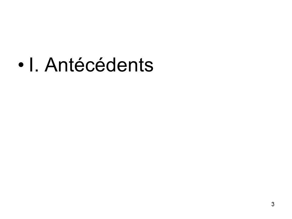 3 I. Antécédents