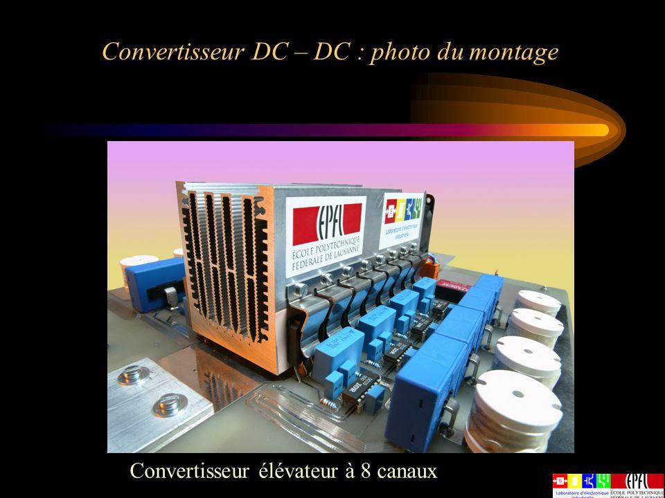 Convertisseur DC – DC : photo du montage Convertisseur élévateur à 8 canaux
