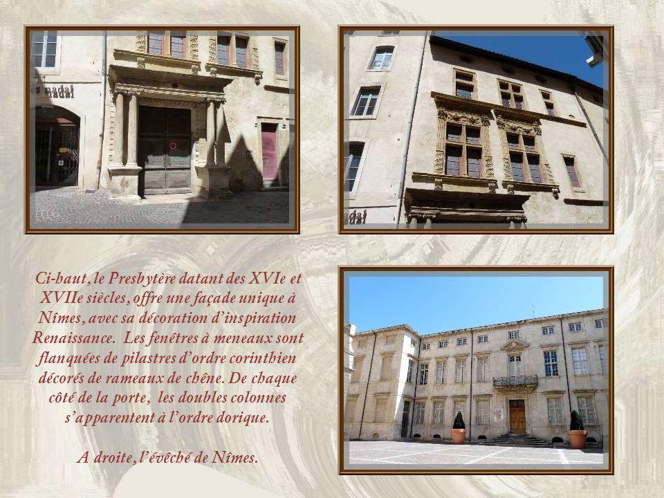 Bel immeuble en pierre, voie étroite et passage voûté rappellent le passé de la ville…