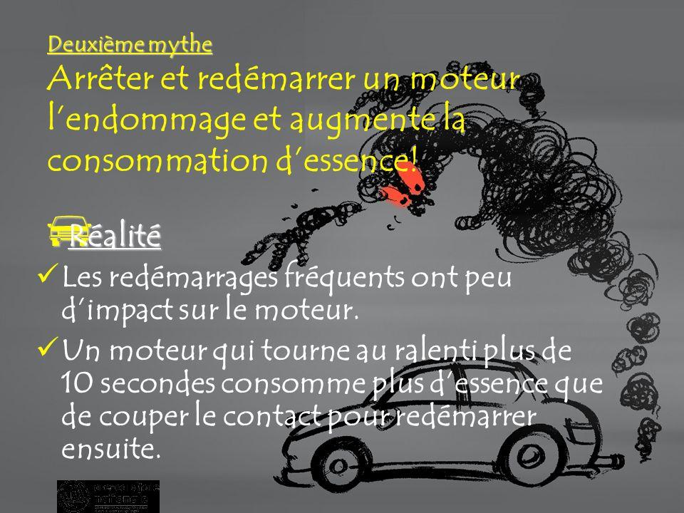 Premier mythe Premier mythe La marche au ralenti… cest bon pour le moteur.