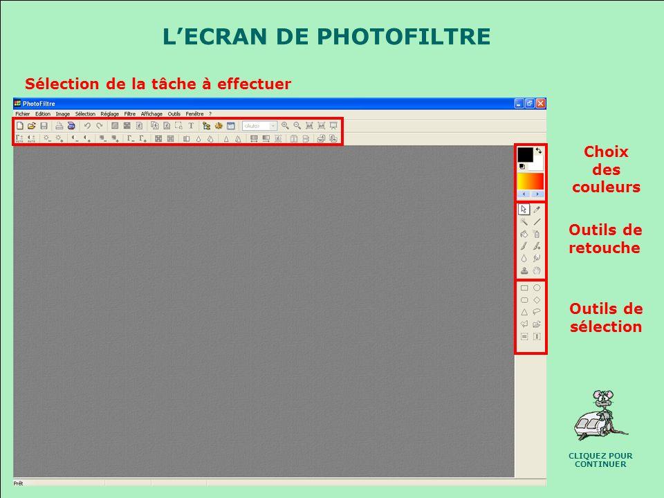 PHOTOFILTRE (Prise en main) Photofiltre est un logiciel gratuit qui va vous permettre de retoucher vos photos, vous allez pouvoir : Réduire vos photos