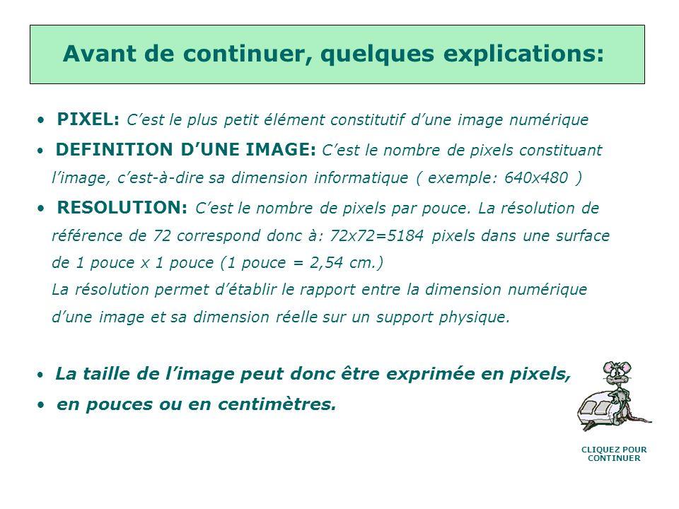 Un conseil: Ne risquez pas de perdre vos photos, travaillez toujours sur une copie, pour cela: Menu Image>Dupliquer, puis fermez la photo dorigine CLI