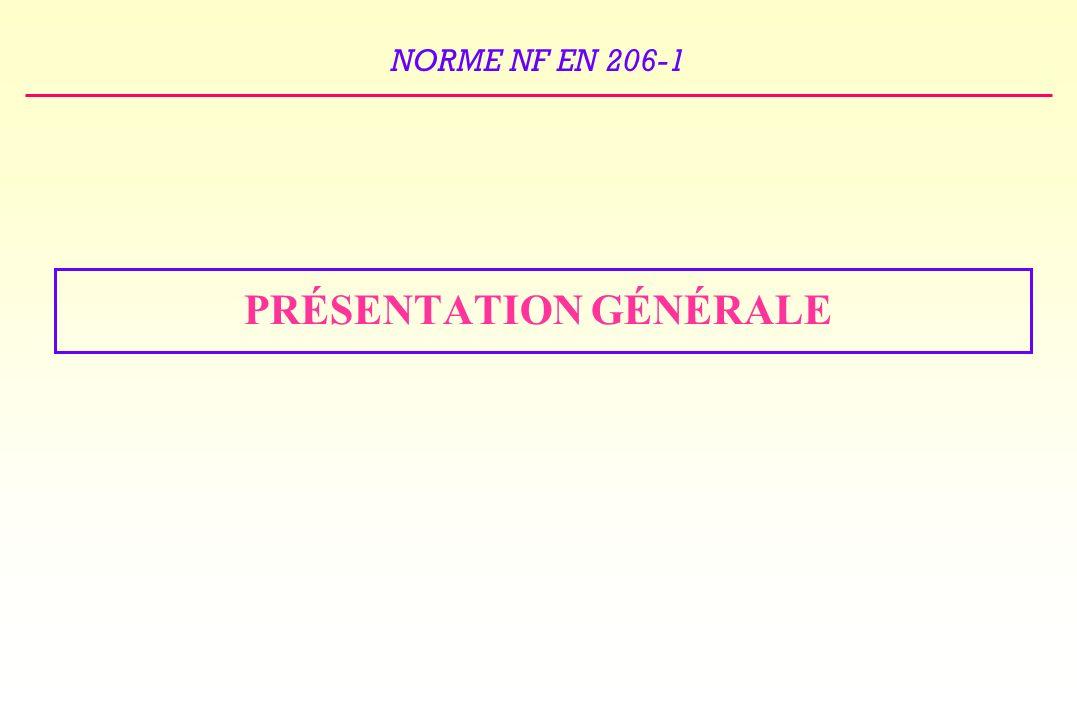 NORME NF EN 206-1 Les classes dexposition XF1, XF2, XF3, XF4 sont indiquées dans la « carte de France donnant les zones de gel » Les valeurs limites applicables aux bétons soumis aux classes dexposition XC2, XC3, XC4, XS1 et XD1 sont identiques à celles applicables aux classes dexposition XC2 = XC1 / XC3 = XF1 / XC4 = XF1 / XS1 = XS2 / XD1 = XF1.