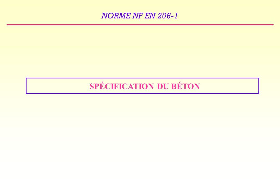 NORME NF EN 206-1 SPÉCIFICATION DU BÉTON