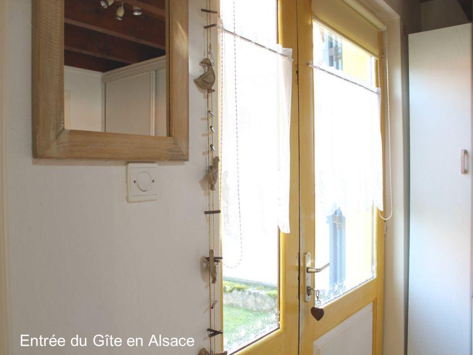 Entrée du Gîte en Alsace
