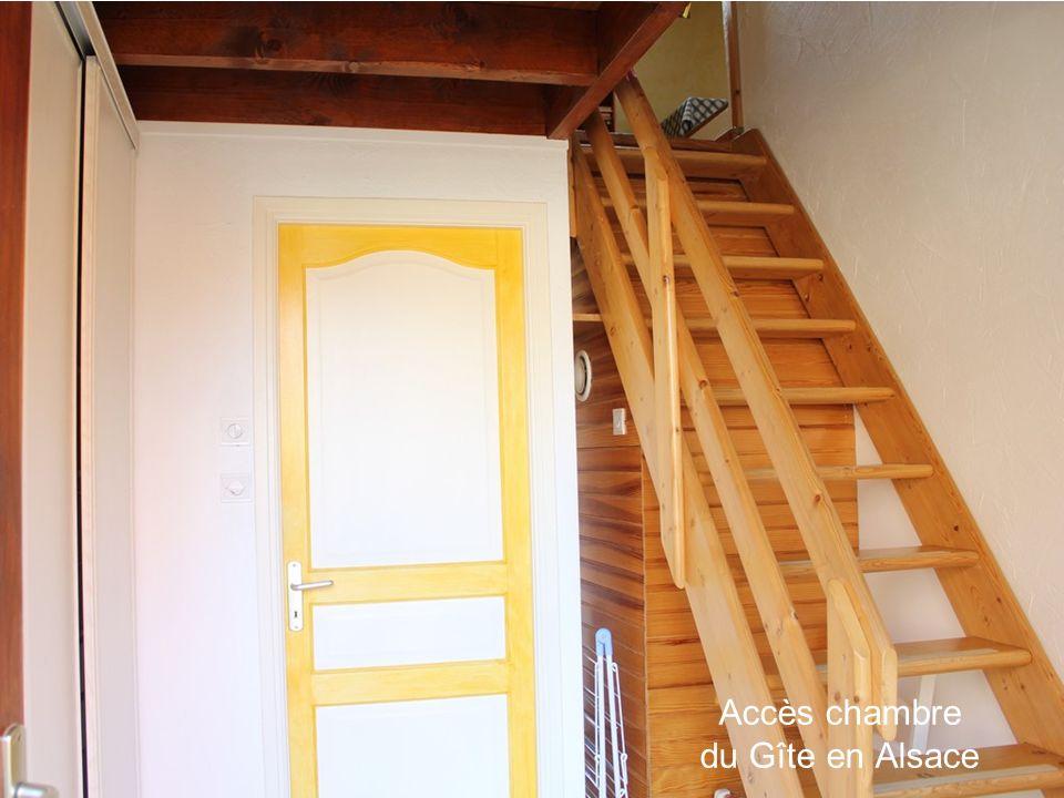 Accès chambre du Gîte en Alsace
