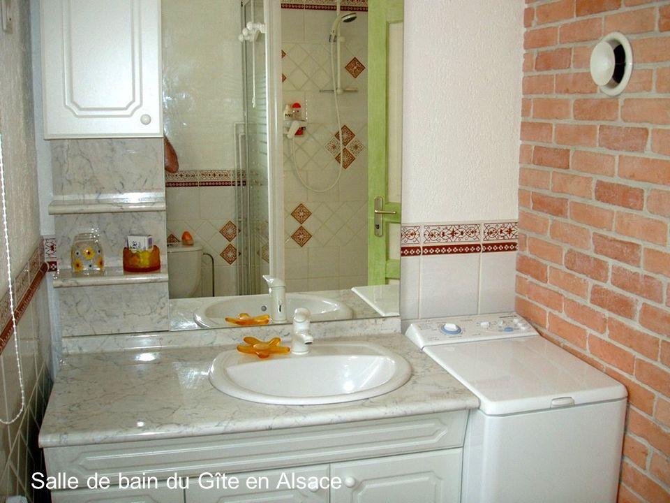 Salle de bain du Gîte en Alsace