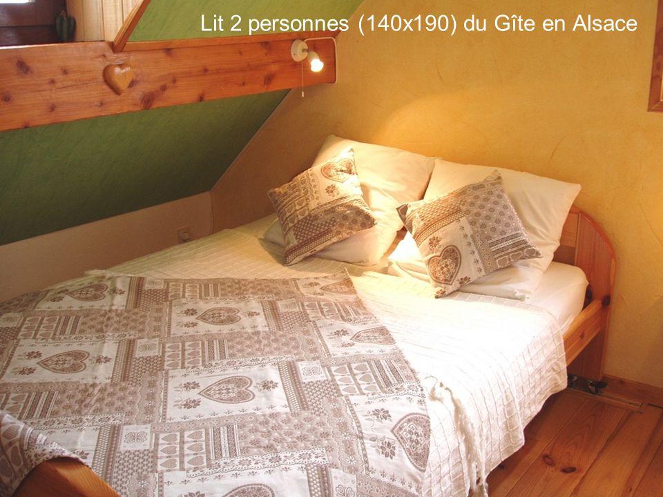 Lit 2 personnes (140x190) du Gîte en Alsace