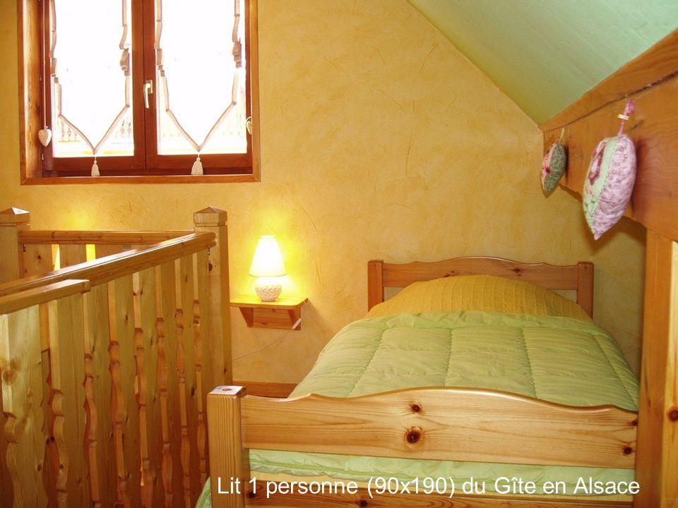Lit 1 personne (90x190) du Gîte en Alsace