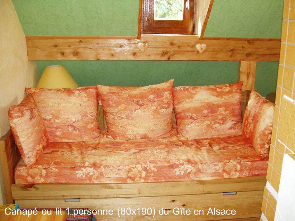 Canapé ou lit 1 personne (80x190) du Gîte en Alsace