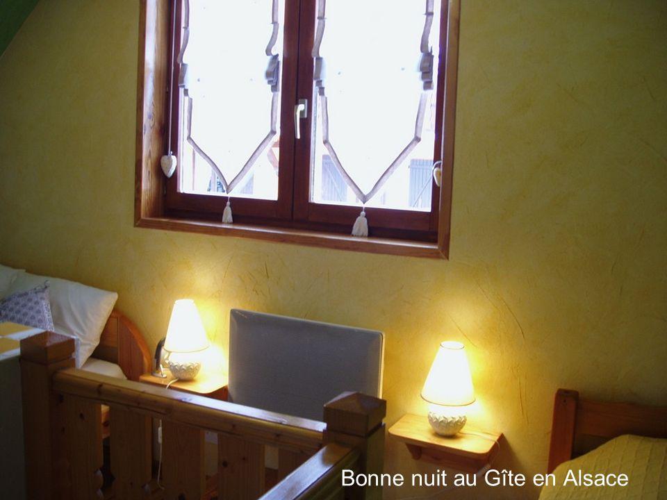 Bonne nuit au Gîte en Alsace