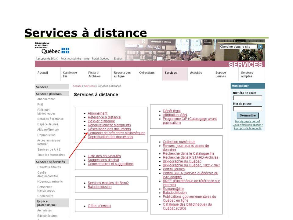 Services à distance