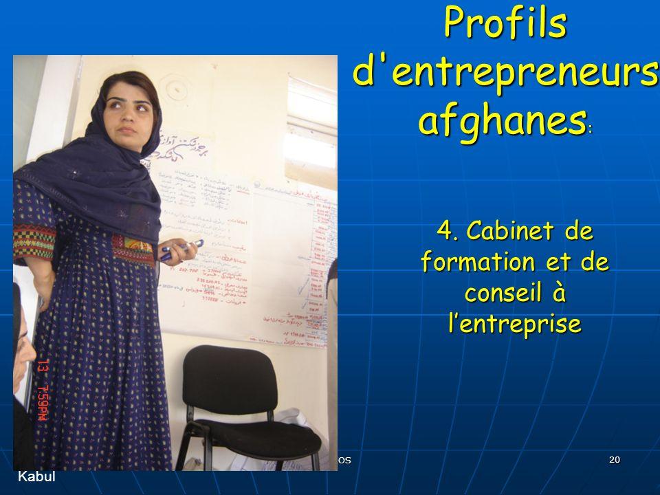 EHESS, 11 décembre 2007 R BOROS 20 Profils d entrepreneurs afghanes : 4.