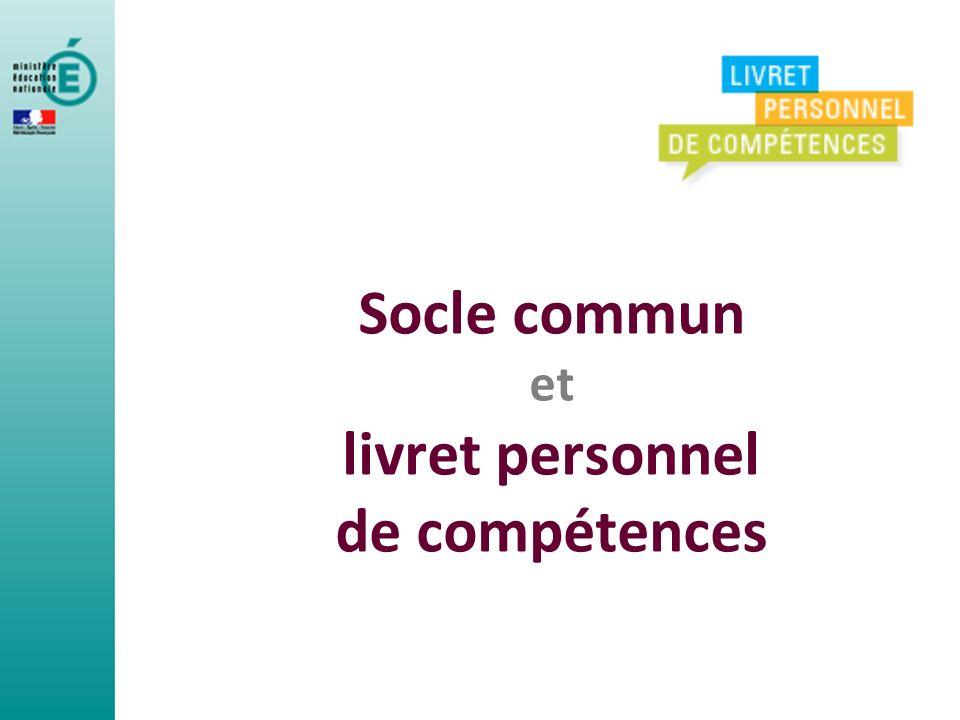 Direction générale de lenseignement scolaire 12 Domaine Item Compétence Dans le livret, chaque compétence est décomposée en domaines, puis en items.