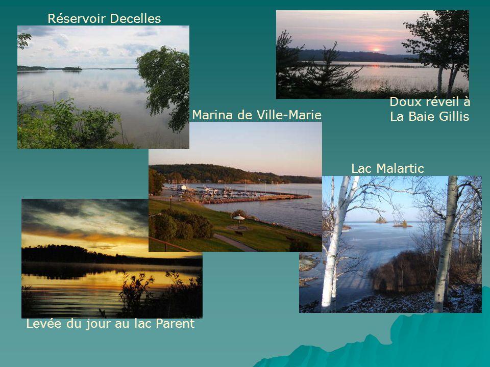Réservoir Decelles Marina de Ville-Marie Levée du jour au lac Parent Lac Malartic Doux réveil à La Baie Gillis