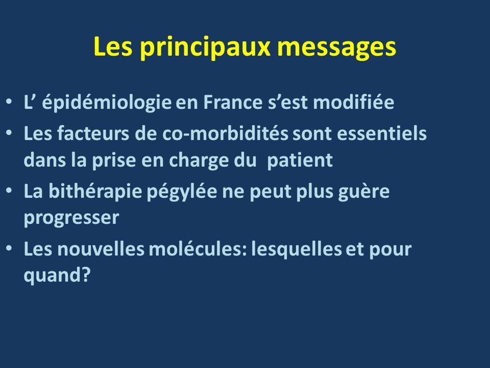 Les principaux messages L épidémiologie en France sest modifiée Les facteurs de co-morbidités sont essentiels dans la prise en charge du patient La bi