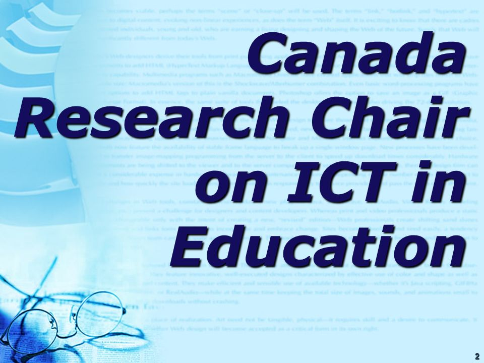 53 The Use of Information and Communication Technologies (ICTs) : The Case of 6998 Canada Student Teachers