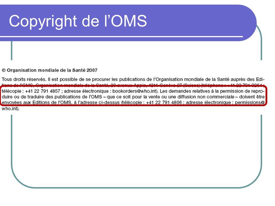 Copyright de lOMS