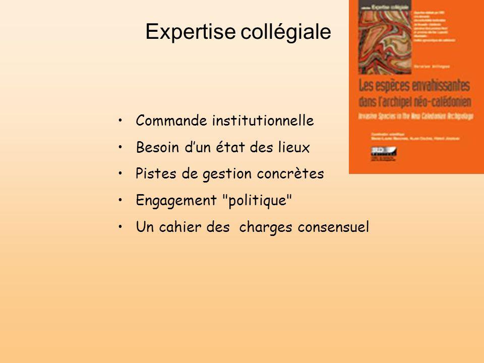 Expertise collégiale Commande institutionnelle Besoin dun état des lieux Pistes de gestion concrètes Engagement
