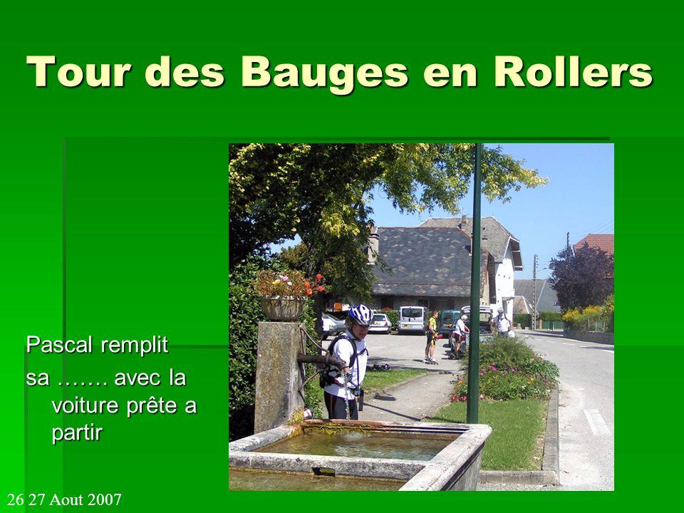 Tour des Bauges en Rollers Pascal remplit sa ……. avec la voiture prête a partir 26 27 Aout 2007