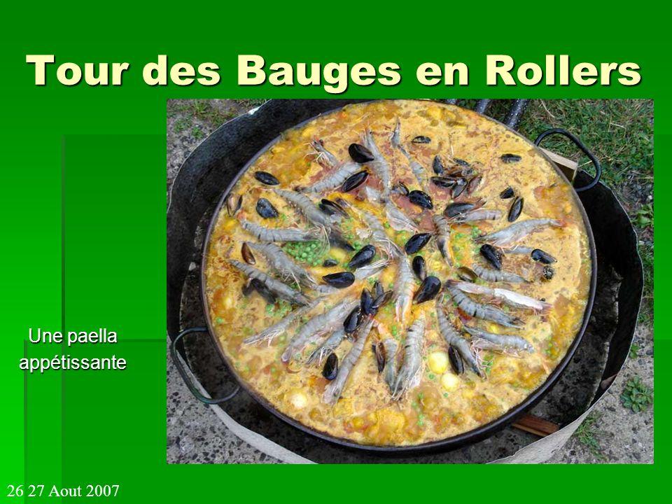 Tour des Bauges en Rollers Une paella appétissante 26 27 Aout 2007