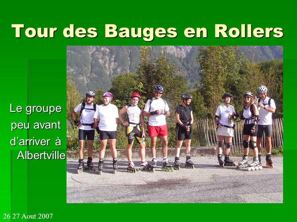 Tour des Bauges en Rollers Le groupe peu avant darriver à Albertville 26 27 Aout 2007