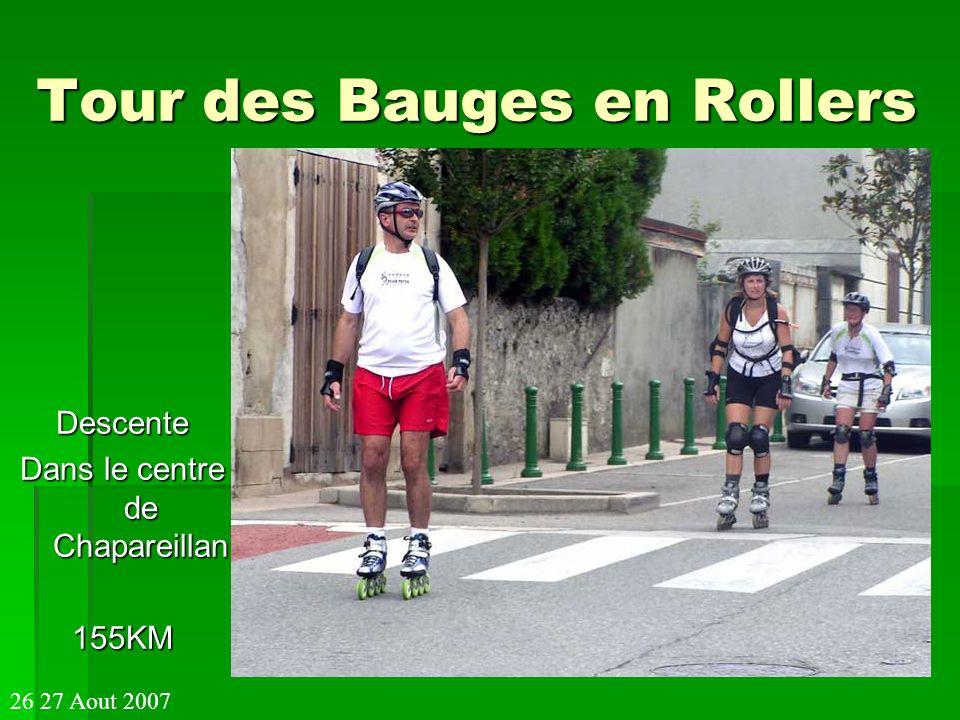 Tour des Bauges en Rollers Descente Dans le centre de Chapareillan 155KM 26 27 Aout 2007