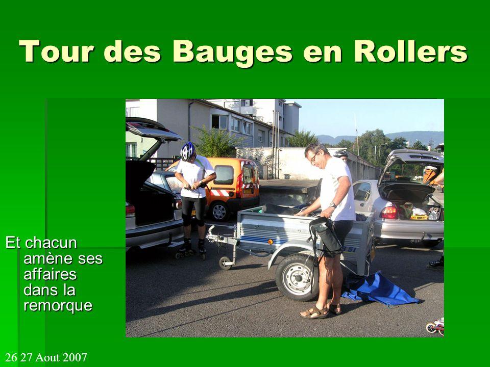 Tour des Bauges en Rollers Alain paré au départ et Laurence en forme 26 27 Aout 2007