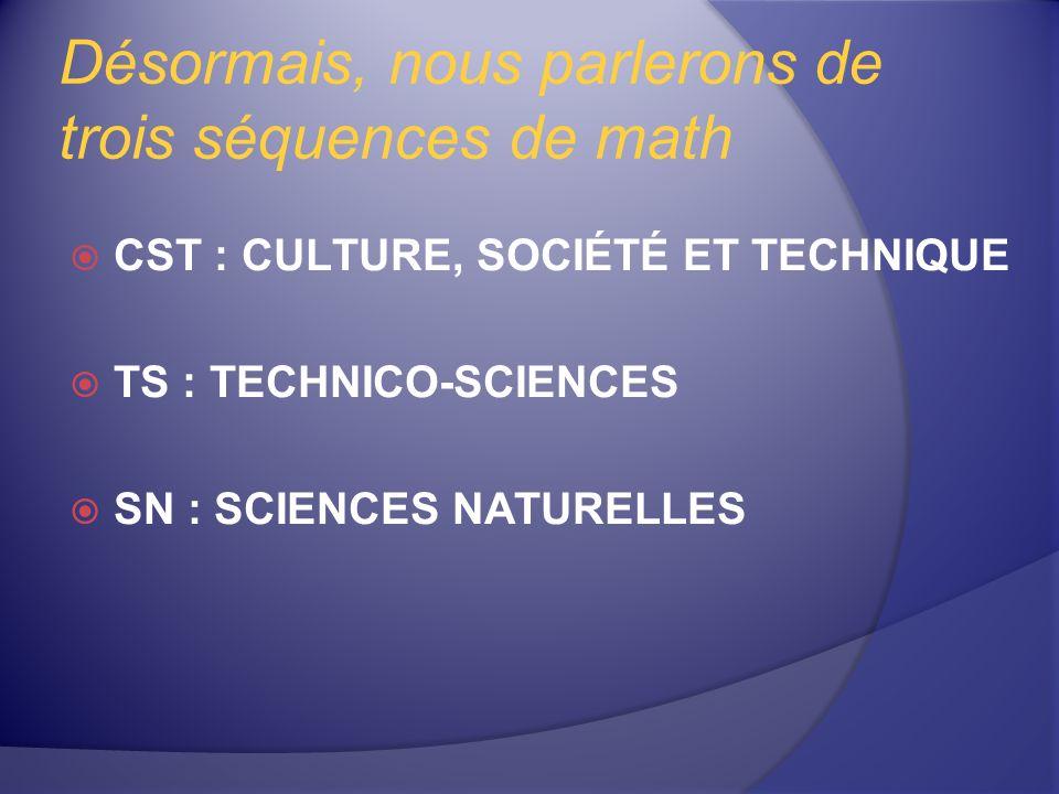 La séquence SN Programmes techniques La majorité des programmes techniques Dans certains cas, la réussite de la 4 e secondaire sera suffisante 2014-03-30