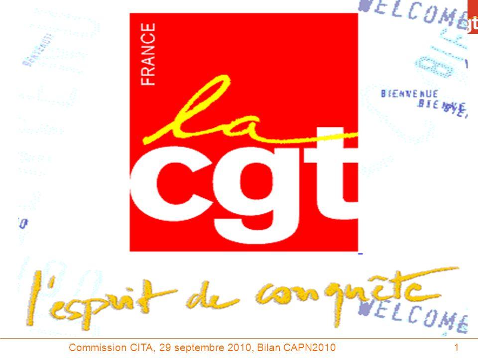 Commission CITA, 29 septembre 2010, Bilan CAPN201022 TREX en AI