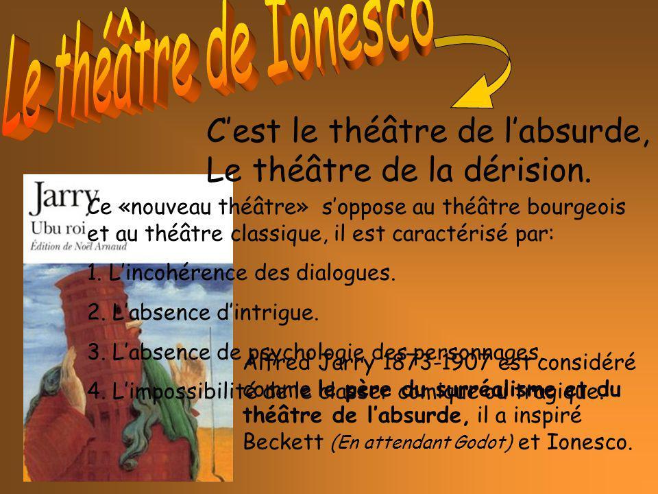 Alfred Jarry 1873-1907 est considéré comme le père du surréalisme et du théâtre de labsurde, il a inspiré Beckett (En attendant Godot) et Ionesco. Ces