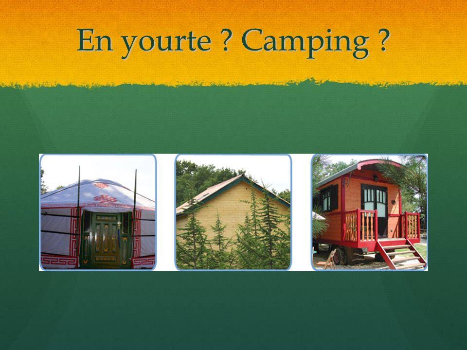 En yourte Camping