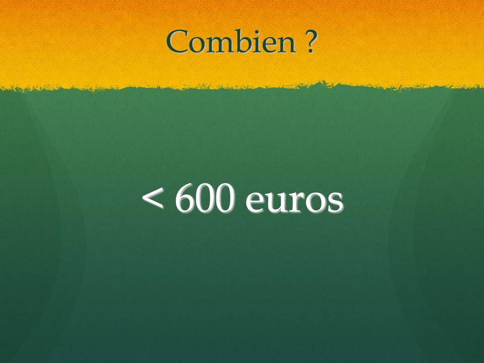 Combien < 600 euros