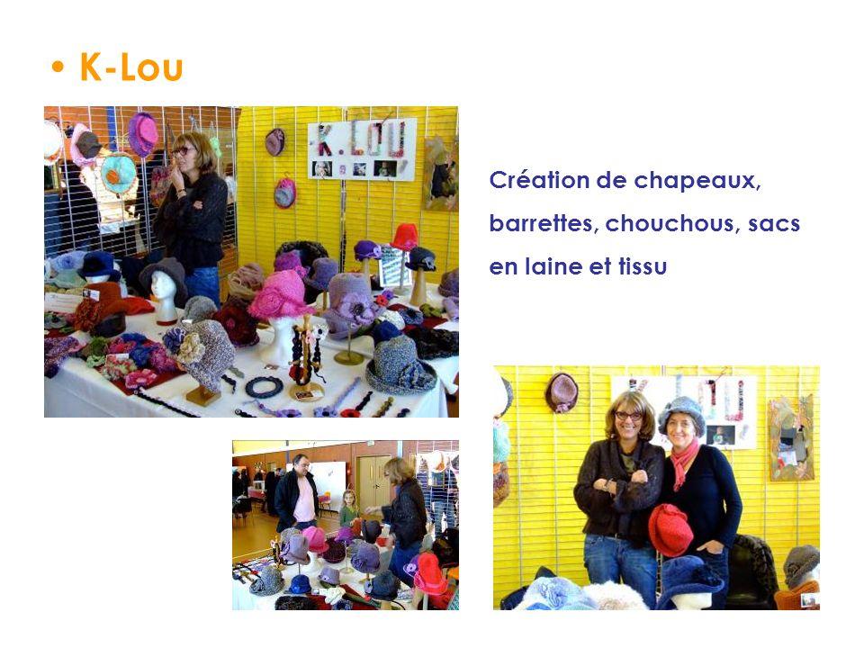K-Lou Création de chapeaux, barrettes, chouchous, sacs en laine et tissu