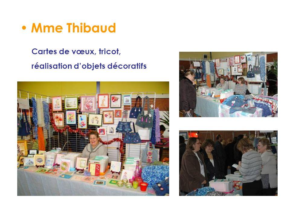 Mme Thibaud Cartes de vœux, tricot, réalisation dobjets décoratifs