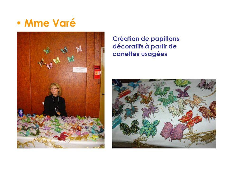 Mme Varé Création de papillons décoratifs à partir de canettes usagées
