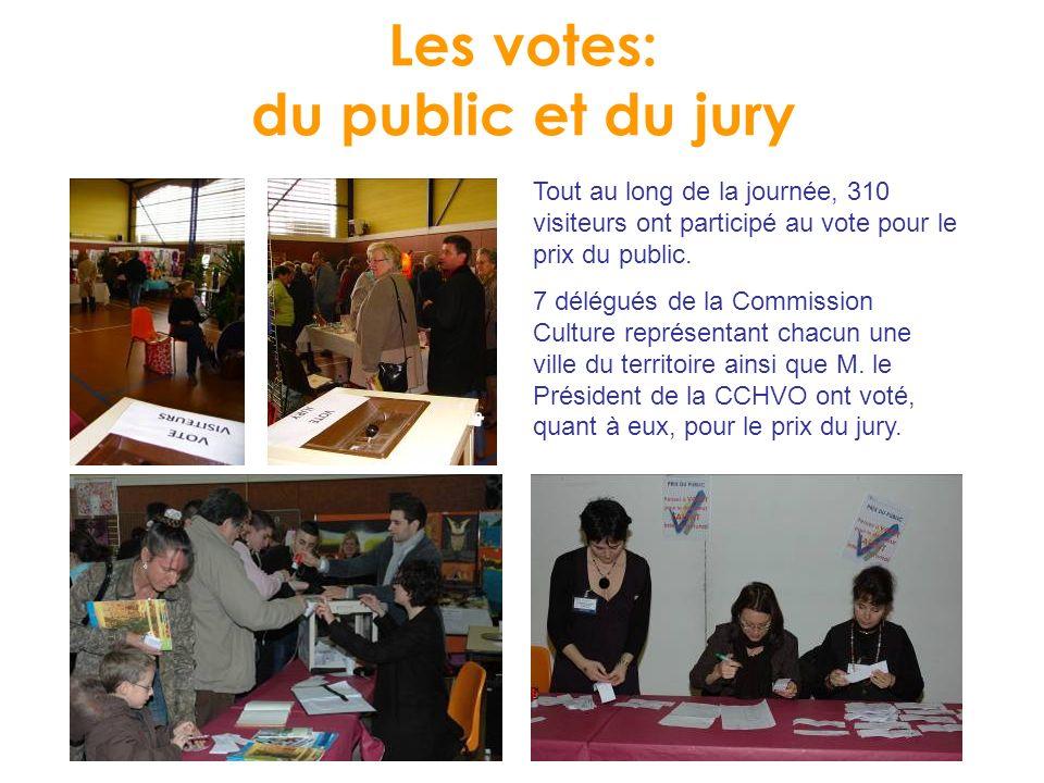 Les votes: du public et du jury Tout au long de la journée, 310 visiteurs ont participé au vote pour le prix du public.