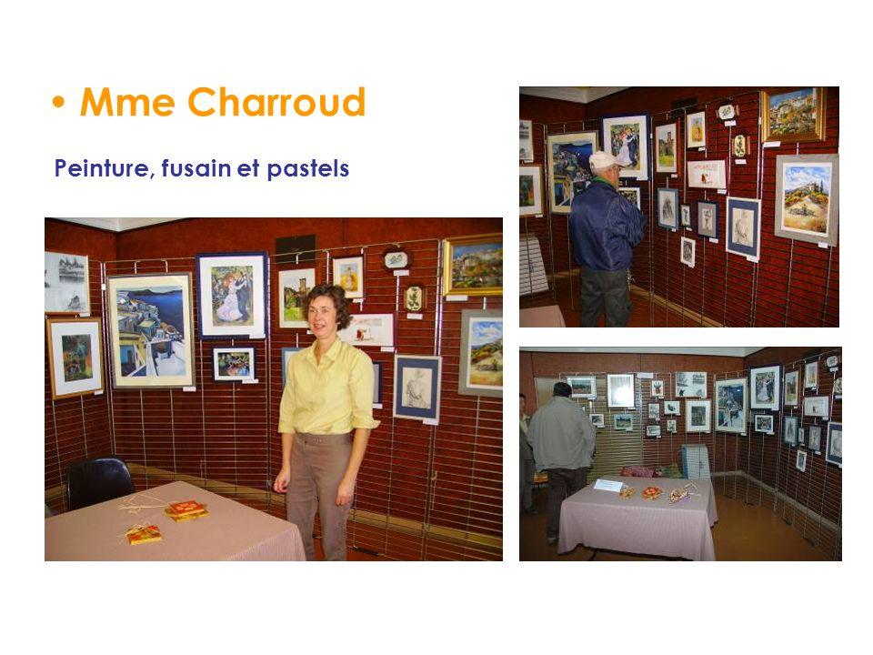 Mme Charroud Peinture, fusain et pastels