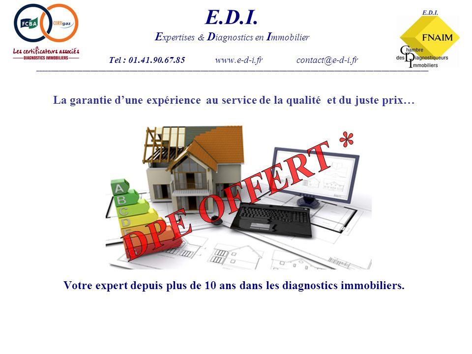 Le DPE 2011, comment ça marche .E.D.I.