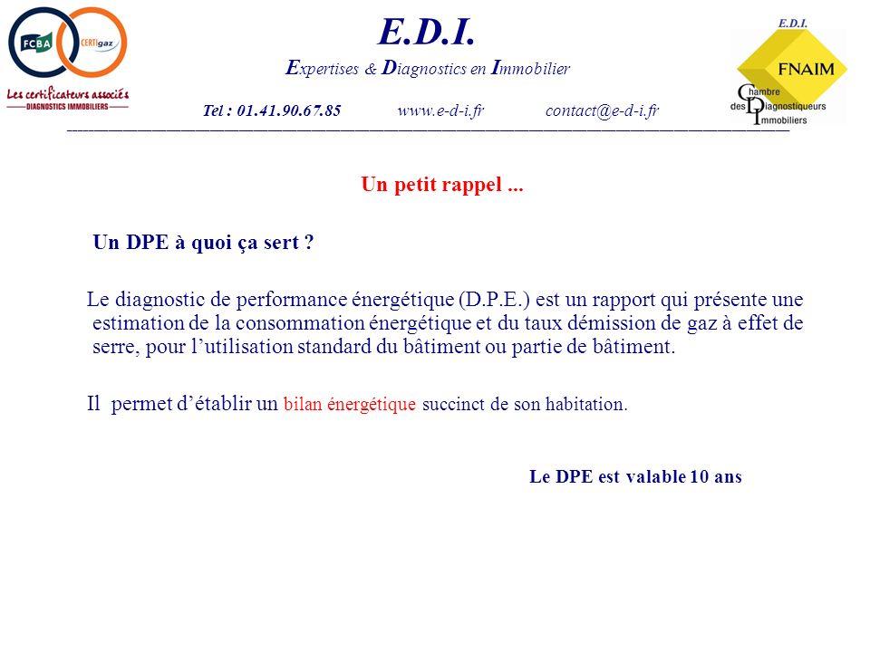 Un DPE, à quoi ça sapplique .