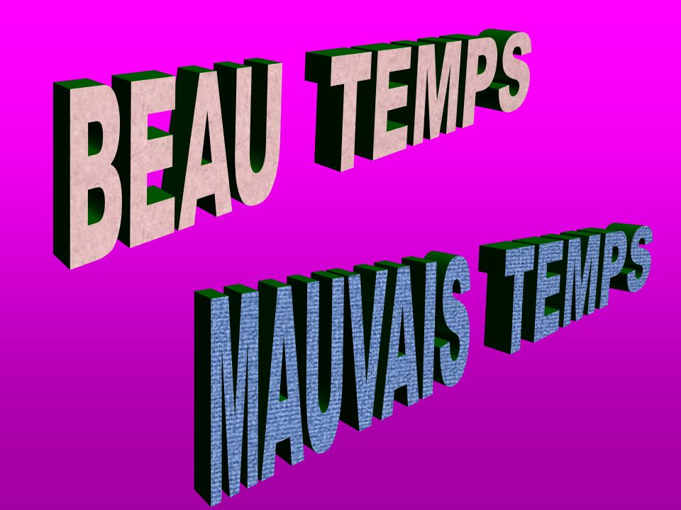 FORMATION 1 45// LATITUDE TEMPEREE = RENCONTRE AIR FROID ET AIR CHAUD