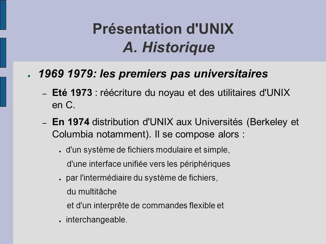 Présentation d UNIX A.