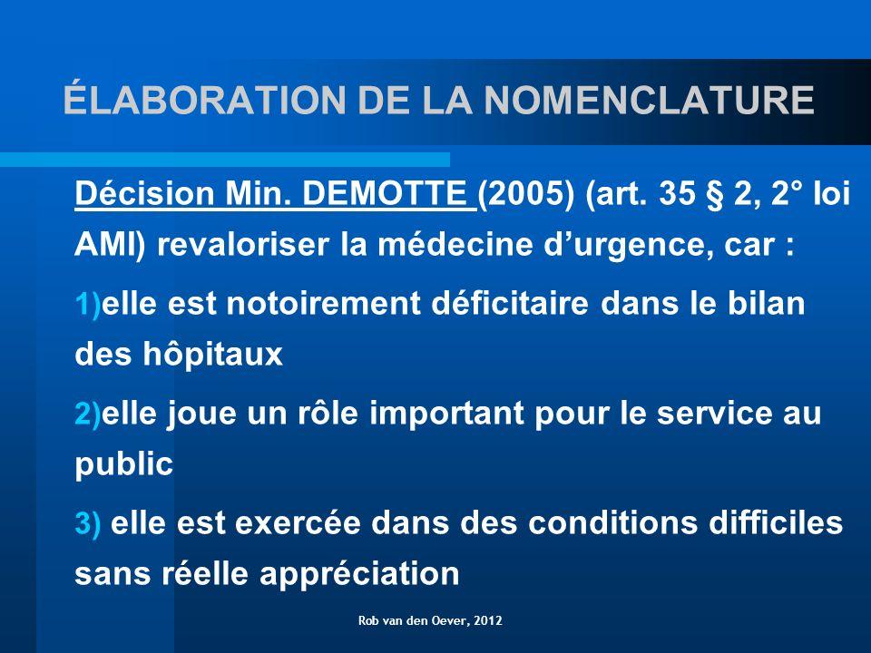 HONORAIRE DE DISPONIBILITÉ PROPOSITION A (2006) 5 spécialistes de base - interniste - chirurgien - anaesthesiste - gynecologue - pédiatre 5 x 125/ 24 hrs x 112 jours = 70.000 Rob van den Oever, 2012