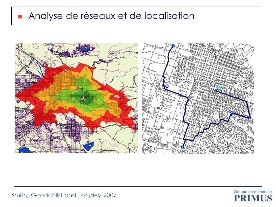 Analyse de réseaux et de localisation Smith, Goodchild and Longley 2007