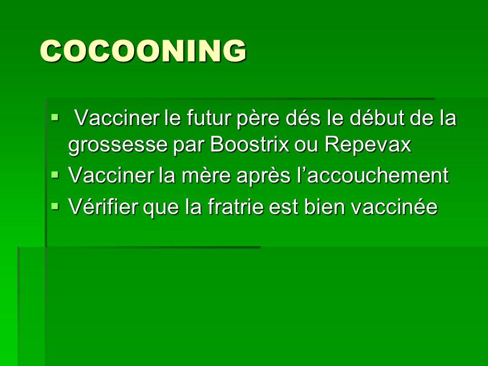 COCOONING COCOONING Vacciner le futur père dés le début de la grossesse par Boostrix ou Repevax Vacciner le futur père dés le début de la grossesse pa
